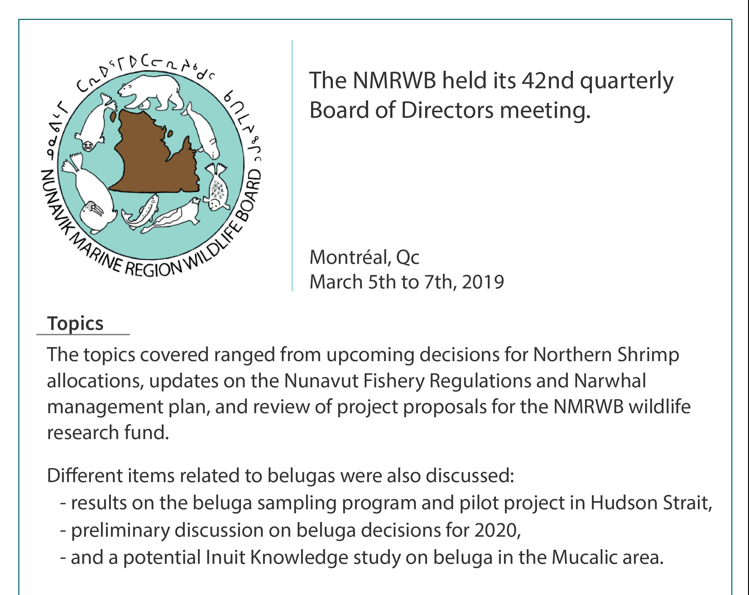 NMRWB – The Nunavik Marine Region Wildlife Board